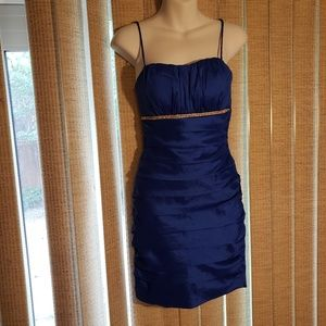 Royal blue mini cocktail dress